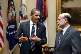 Federal Reserve with Obama and Bernanke
