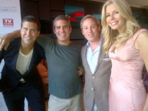 Fredrik with BRAVO TV Producer Andy Cohen and co-stars