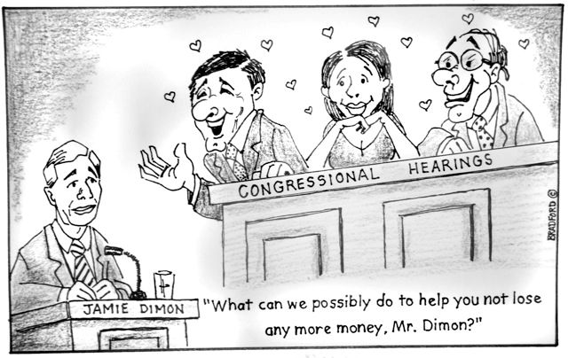 TNR Cartoon:  Congress and the Jamie Dimon Love Affair